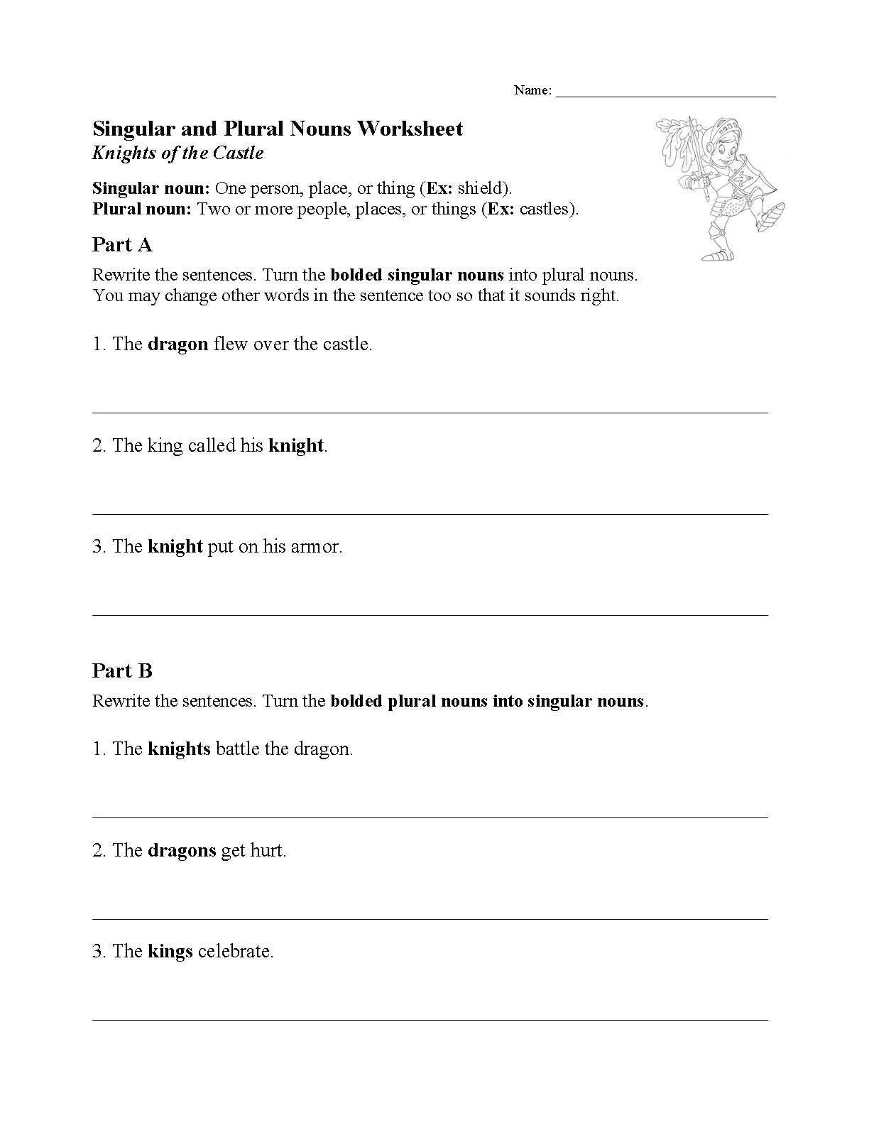This is a preview image of one of our Noun Worksheets. Click on it to view all of our noun worksheets.