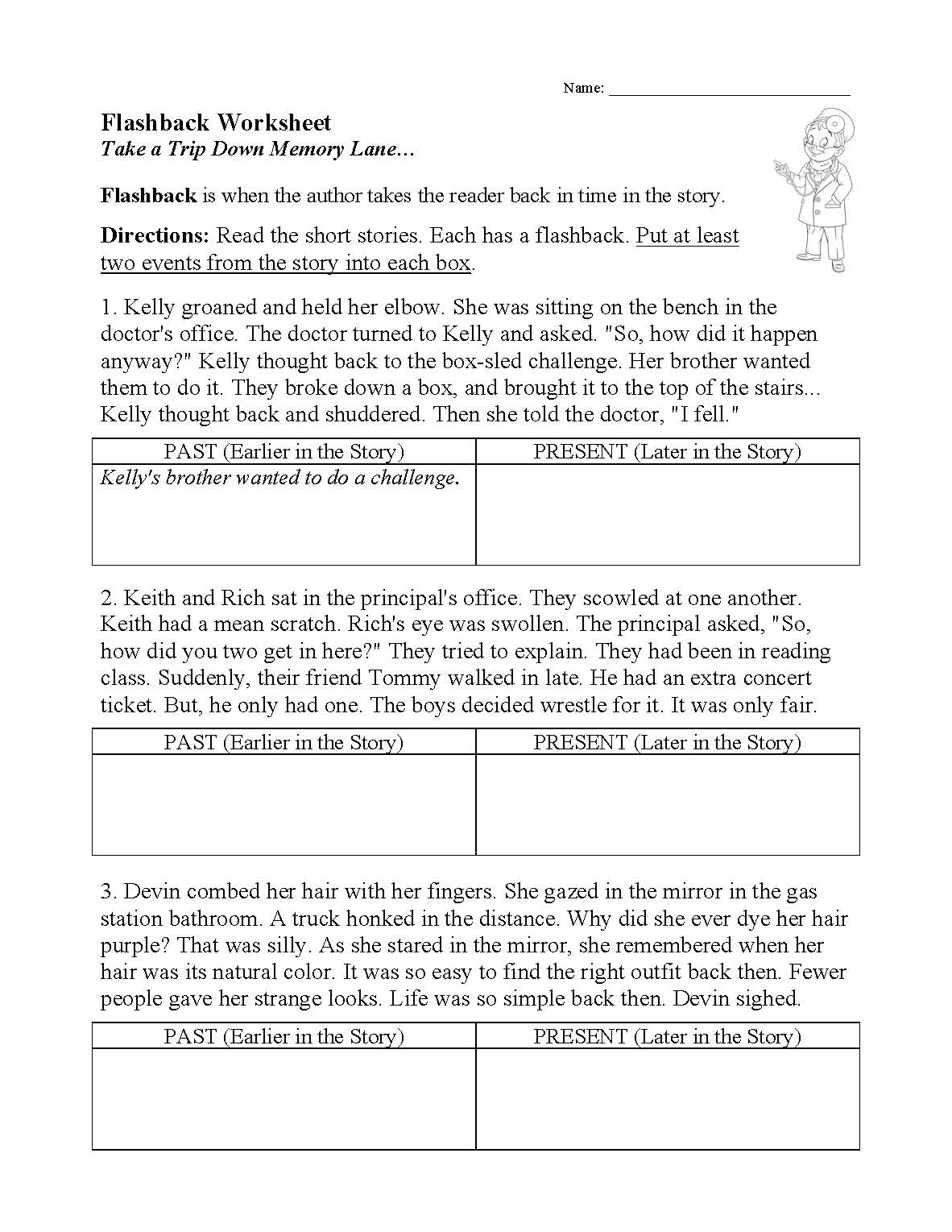 This is a preview image of our Flashback Worksheet. Click on it to enlarge or view the source file.