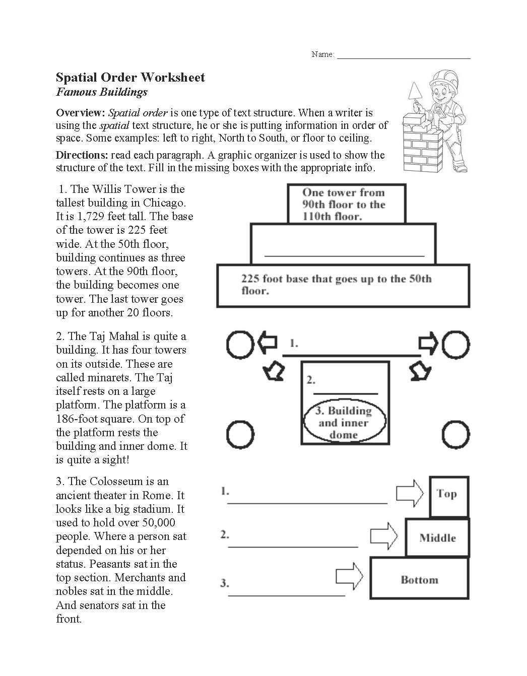 This is a preview image of our Spatial Order Worksheet. Click on it to enlarge or view the source file.