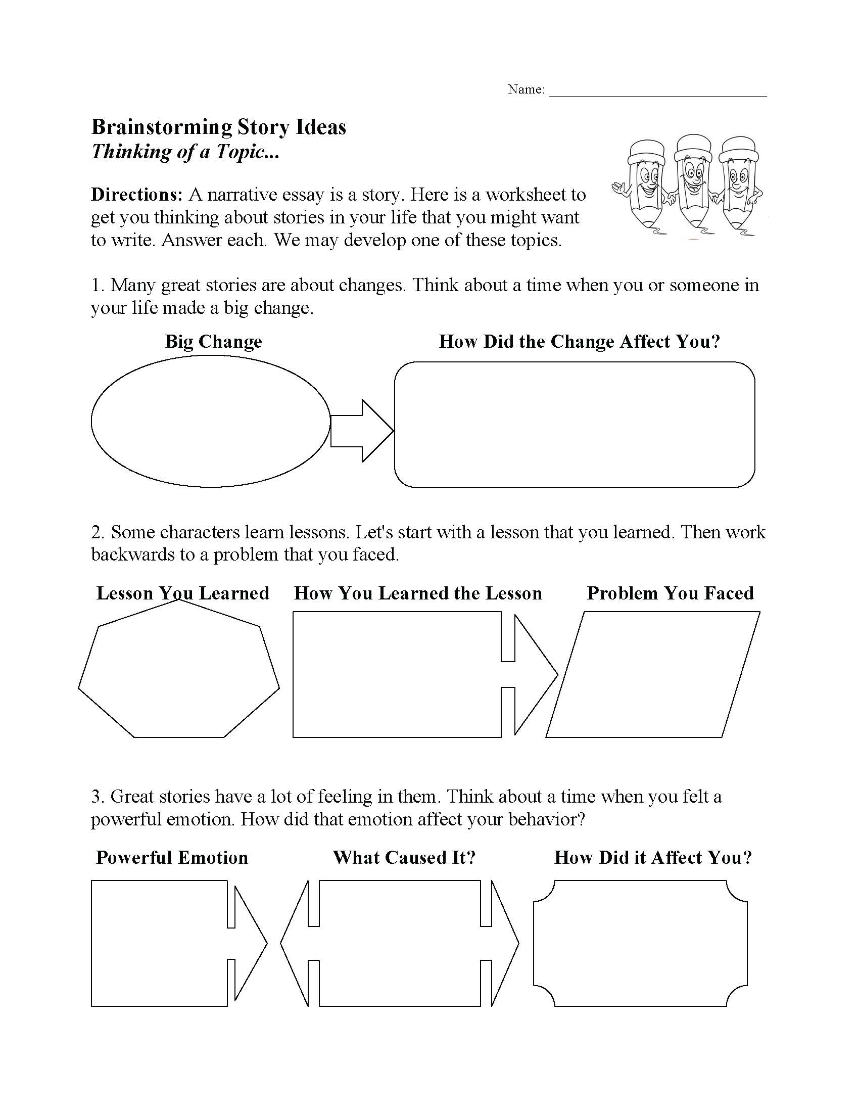 This is a preview image of one of our Writing Worksheets. Click on it to view all of our writing worksheets.